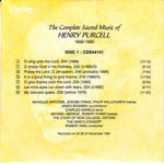 Henry Purcell – The King's Consort, Robert King (9) – The Complete Sacred Music Of Henry Purcell
