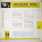Jacques Brel Accompagné Par François Rauber Et Son Orchestre – Les Bigotes