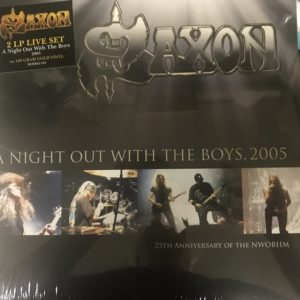 Saxon 2 LP Set Gold Vinyl A Night Out With The Boys