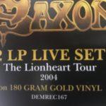 Saxon 2 LP Set Gold Vinyl The Lionheart Tour, 2004